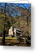 Cades Cove Early Settler Cabin  Greeting Card