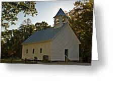 Cades Cove Methodist Church Aglow Greeting Card