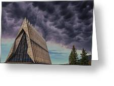Cadet Chapel At The United States Air Force Academy Greeting Card