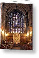 Cadet Chapel With Stained Glass Windows Greeting Card