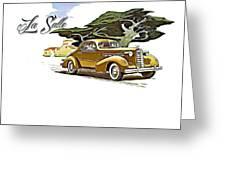 Cadillac Lasalle Greeting Card