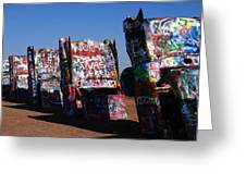 Cadillac Ranch On Route 66 Greeting Card