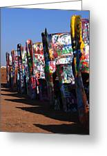 Cadillac Ranch Route 66 Greeting Card
