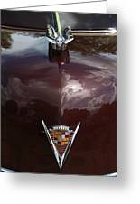 1949 Cadillac La Salle - Hood Ornaments Greeting Card