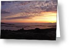 Cadillac Sunset IIi Panorama Greeting Card