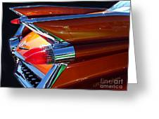 Cadillac Tail Fin View Greeting Card