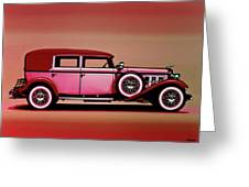 Cadillac V16 Mixed Media Greeting Card