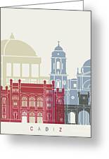 Cadiz Skyline Poster Greeting Card