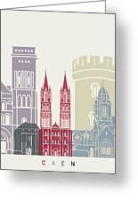 Caen Skyline Poster Greeting Card