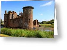 Caerlaverock Castle, Scotland Greeting Card