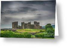 Caerphilly Castle East View 3 Greeting Card