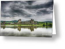 Caerphilly Castle North View 1 Greeting Card