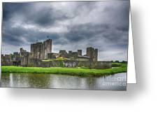 Caerphilly Castle North View 3 Greeting Card