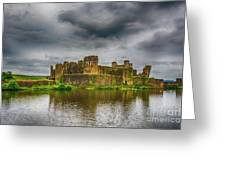 Caerphilly Castle South East View 1 Greeting Card