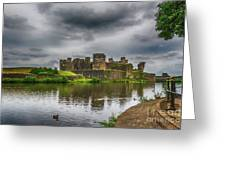 Caerphilly Castle South East View 2 Greeting Card