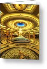 Caesar's Grand Lobby Greeting Card by Yhun Suarez
