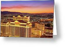 Caesars Palace After Sunset 6 To 3.5 Aspect Ratio Greeting Card