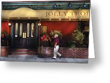 Cafe - Jolly Trolley Greeting Card