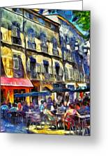 Cafe 2 Provence Greeting Card