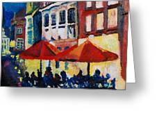 Cafe Al Fresca Greeting Card
