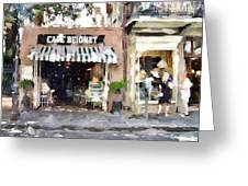Cafe Beignet Summer Day Greeting Card