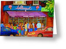 Cafe Bilboquet Ice Cream Delight Greeting Card