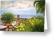 Cafe By The Sea Greeting Card