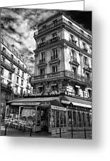 Cafe Corner - Le Bouquet Du Nord Greeting Card
