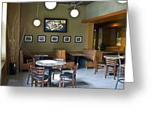 Cafe E Interior Greeting Card