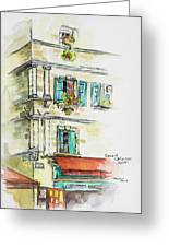 Cafe In Arles Greeting Card