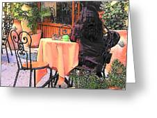 Cafe In Montepulciano Tuscany Greeting Card