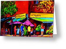 Cafe La Moulerie On Bernard Greeting Card