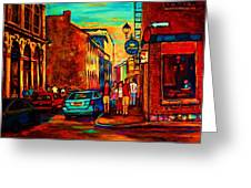 Cafe Le Vieux Port Greeting Card