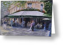 Cafe Magots Greeting Card
