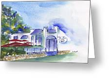 Cafe On The Corner Greeting Card