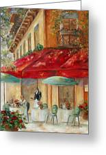 Cafe' Paris Greeting Card by Chris Brandley
