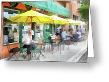 Cafe Pizzaria Greeting Card