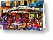 Cafe Provence Greeting Card