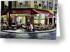 Cafe Regulars Greeting Card