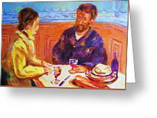 Cafe Renoir Greeting Card