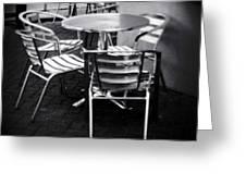Cafe Seating Greeting Card