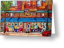 Cafe Second Cup Terrace Greeting Card