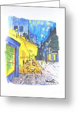 Cafe Terrace At Night - Van Gogh Greeting Card