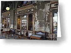 Cafe Terrace On Piazza San Marco Greeting Card