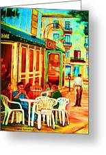 Cafe Vienne Greeting Card