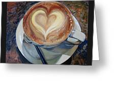 Caffe Vero's Heart Greeting Card