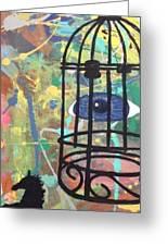Caged Vision  Greeting Card