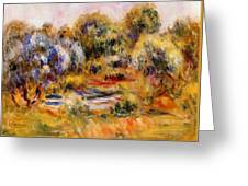 Cagnes Landscape 2 Greeting Card