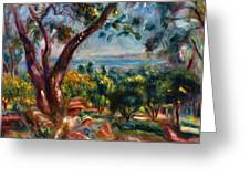 Cagnes Landscape With Woman And Child 1910 Greeting Card