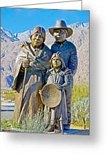 Cahuilla Band Of Agua Caliente Indians Sculpture On Tahquitz Canyon Way In Palm Springs-california Greeting Card